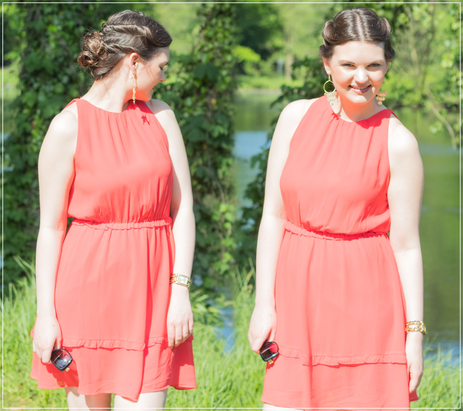 Sommerkleid, rotes Kleid, Summerdress, Sommer-Feeling