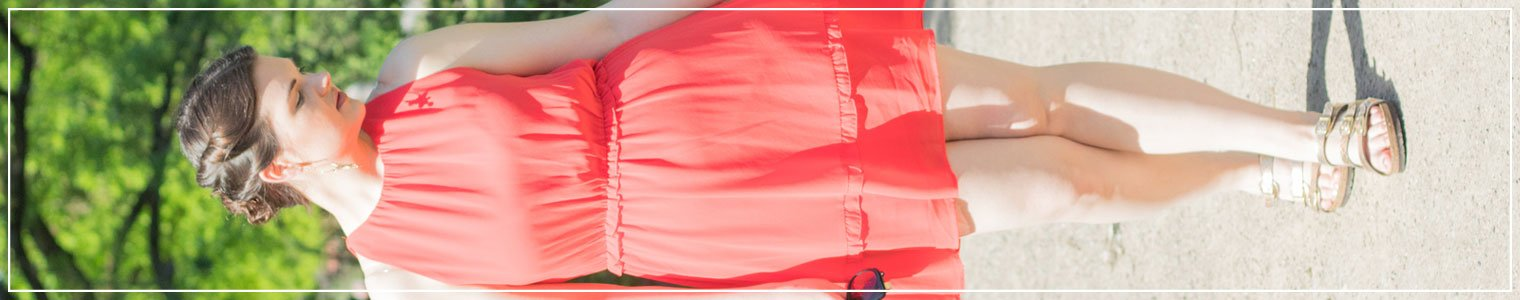 Sommerkleid, rotes Kleid, Summerdress, Sommer-Feeling
