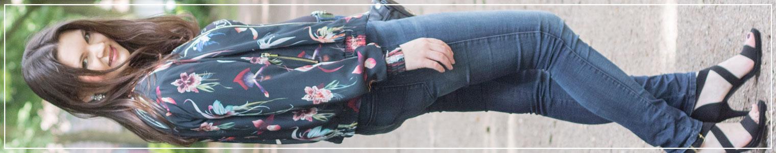 Bomberjacke, Statement-Shirt, Jeans, Trend, Bomber jacket