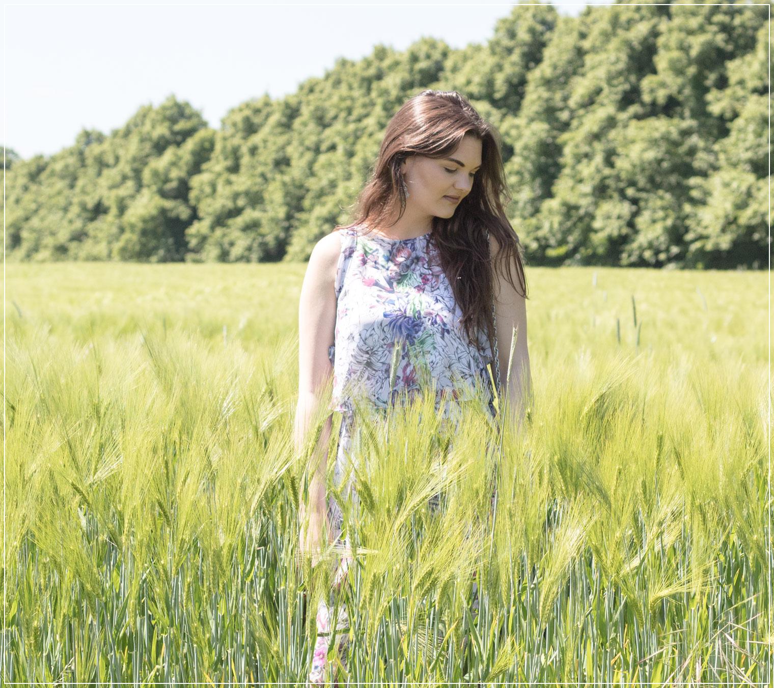 Sommerkleid, Maxidress, Maxikleid, Kornfeld, Summerdress, Sommer-Feeling