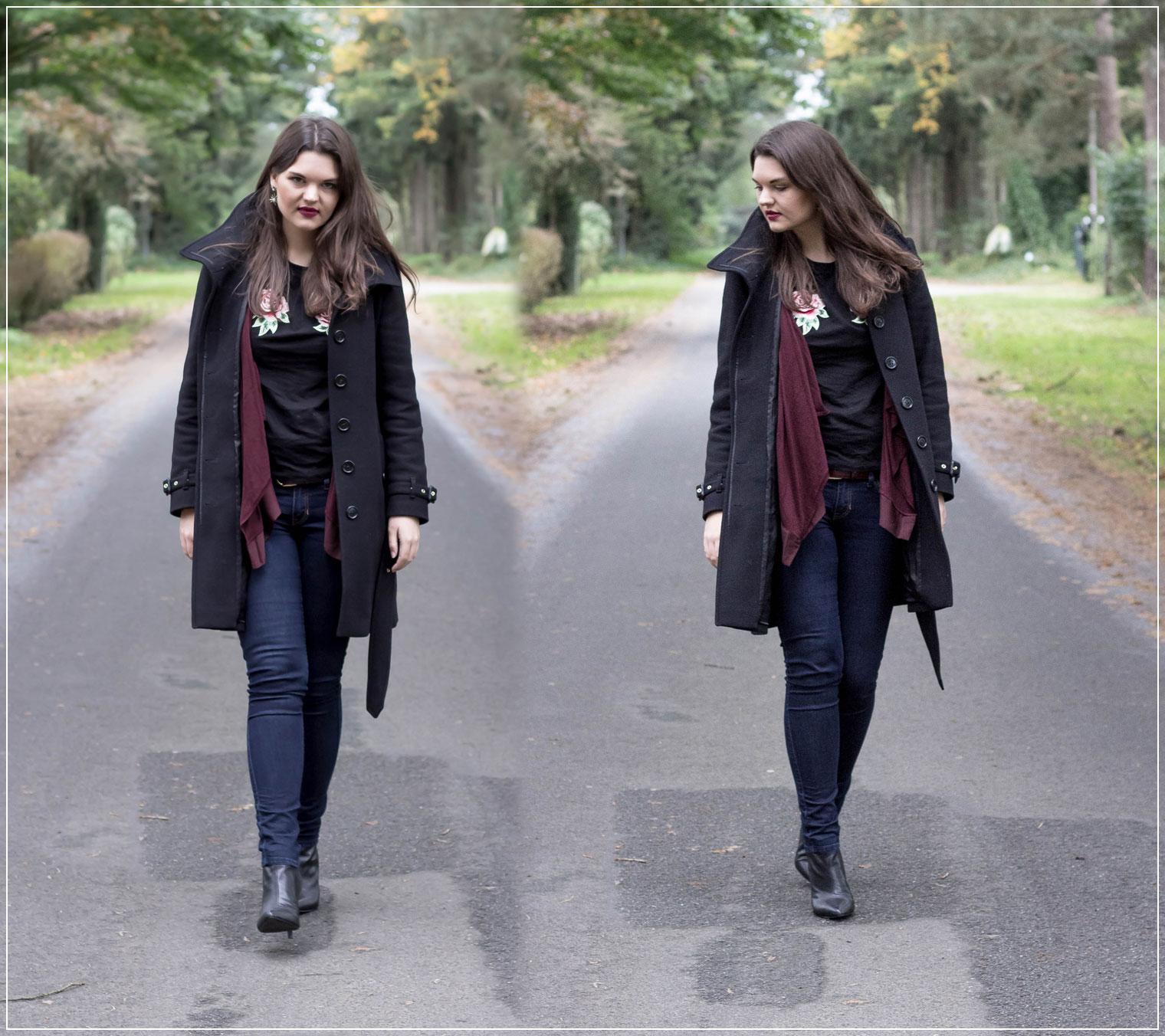 Herbstoutfit,Layering, weinrot, weinrotes Layering, Herbsttrend, Fashiontrend, Modetrend, Ruhrgebiet, Herbst, Autumnstyle, Herbstlook