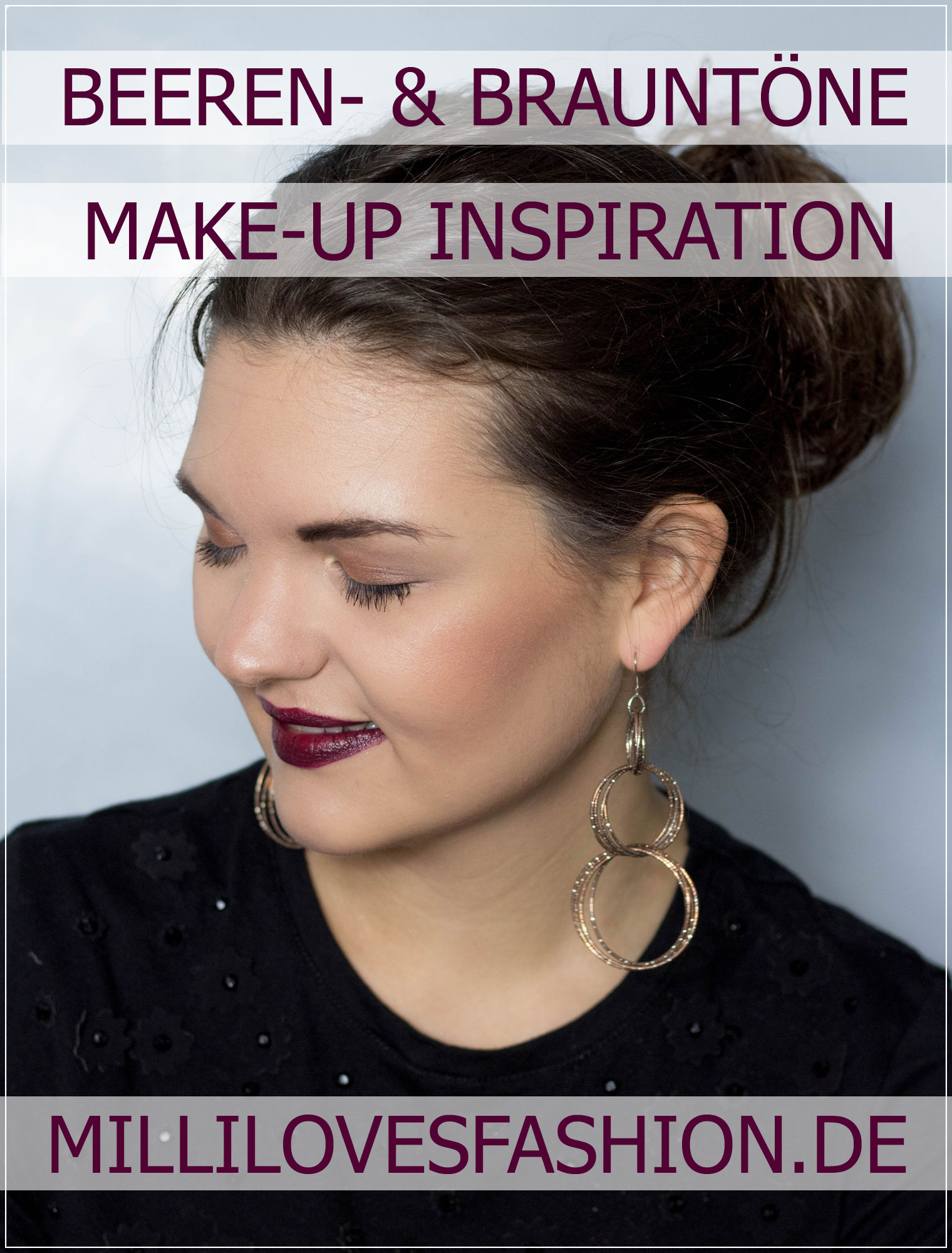 Herbst Make-Up, Make-Up Tutorial, Autumn Make-Up, Brauntöne, Lidschatten, shiny Make-Up