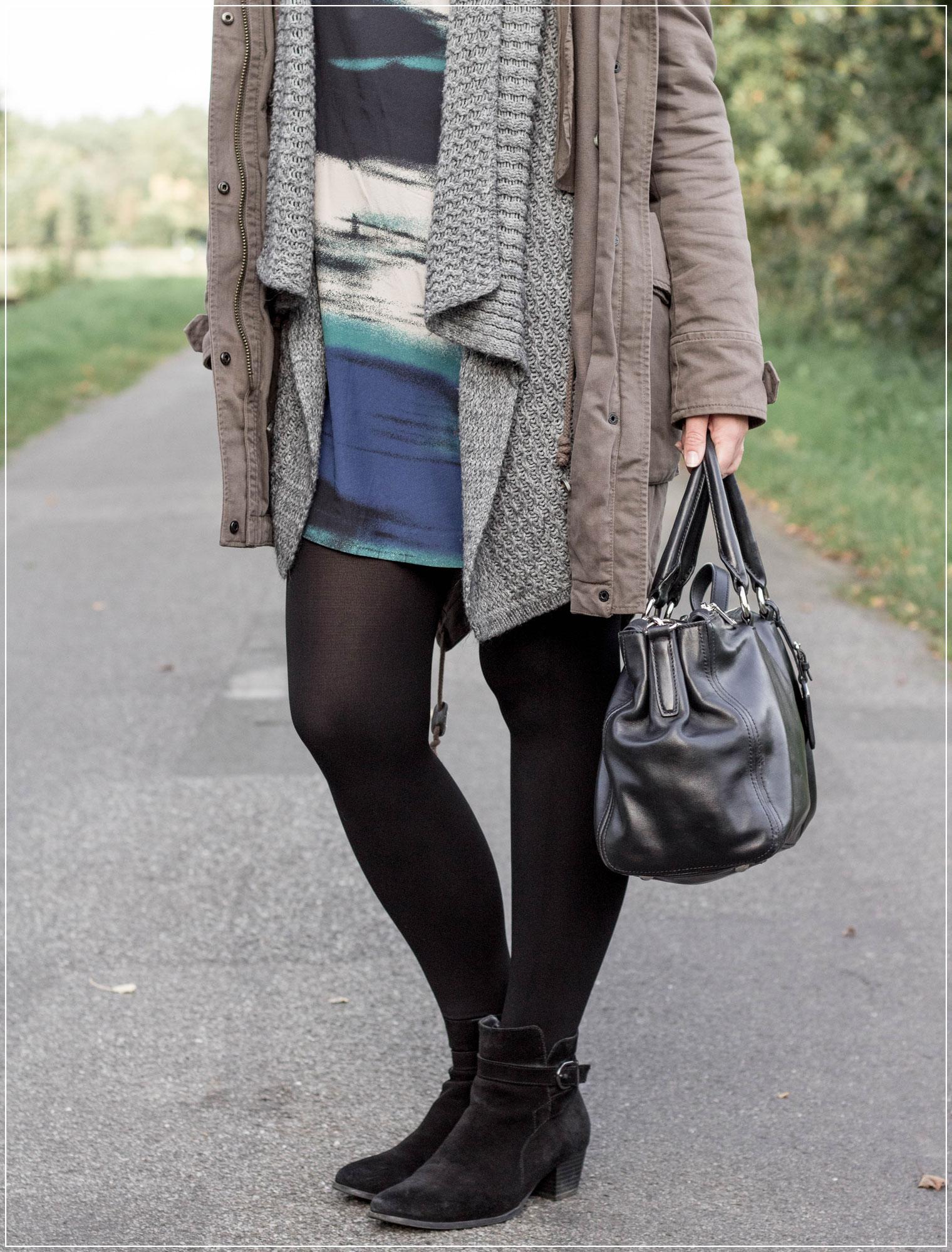 Herbstoutfit, Parka, Seidenkleid, Herbsttrend, Fashiontrend, Modetrend, Ruhrgebiet, Herbst, Autumnstyle, Herbstlook