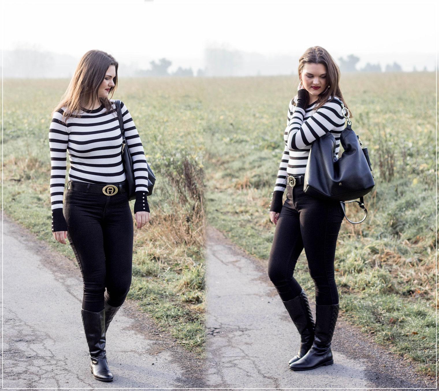 Classy Style, Black and White, Aigner, Designerfashion, Fast-Fashion, Winterstyle, Modebloggerin, Winteroutfit, Fashionbloggerin, Modeblog, Ruhrgebiet
