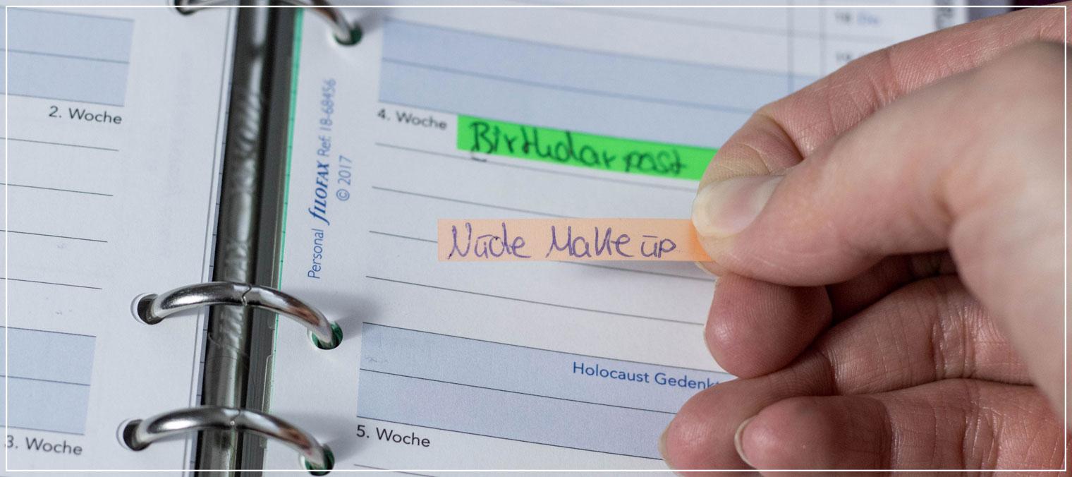 Blogplanuung, Redaktionsplan, Blogger Tipps, Offline Planung, Bullet Journal
