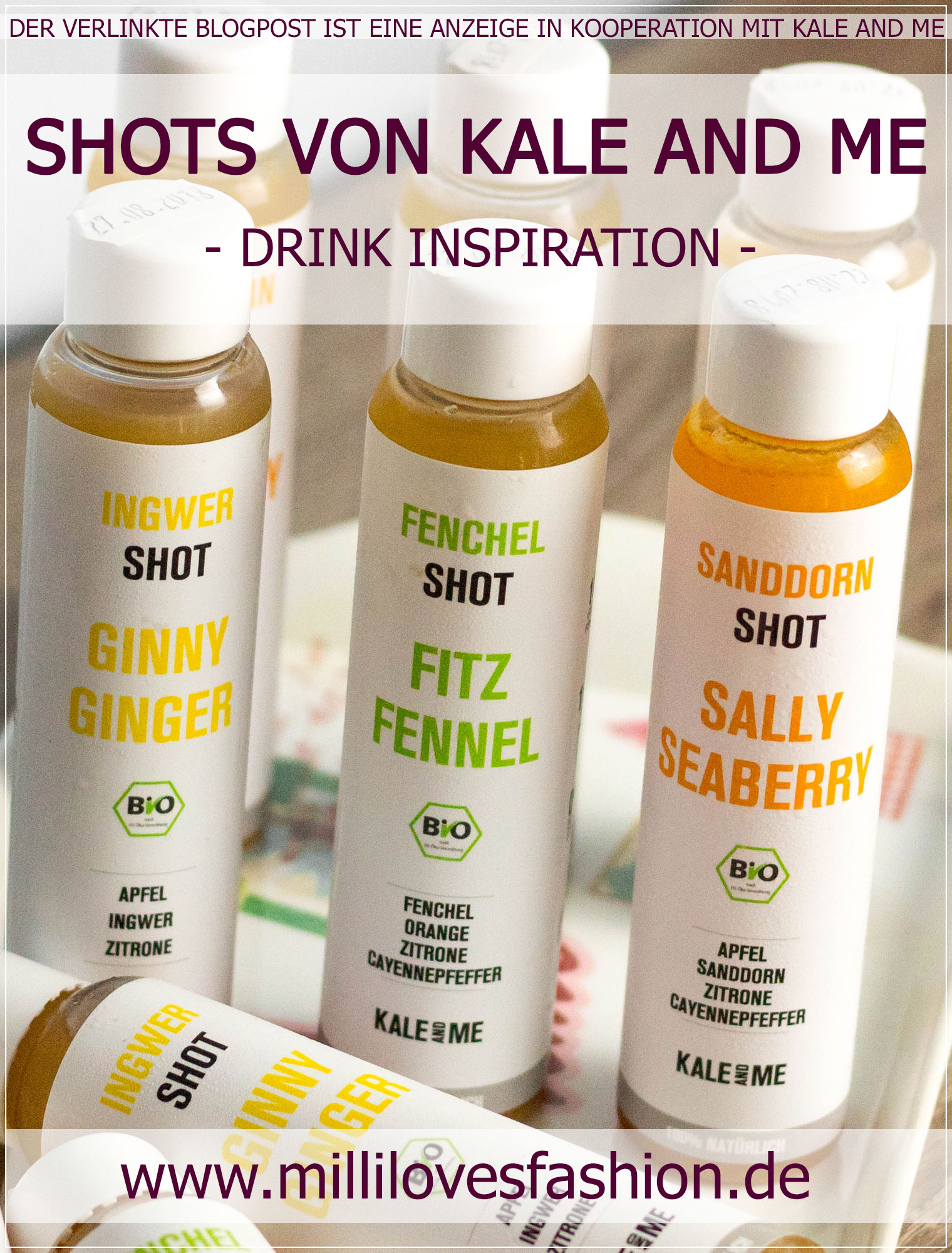 Kale and Me, Shots, Ingwer Shot, kaltgepresst, Saftkur, Vegan, Foodblogger, Kale and Me Review, Energie Kick