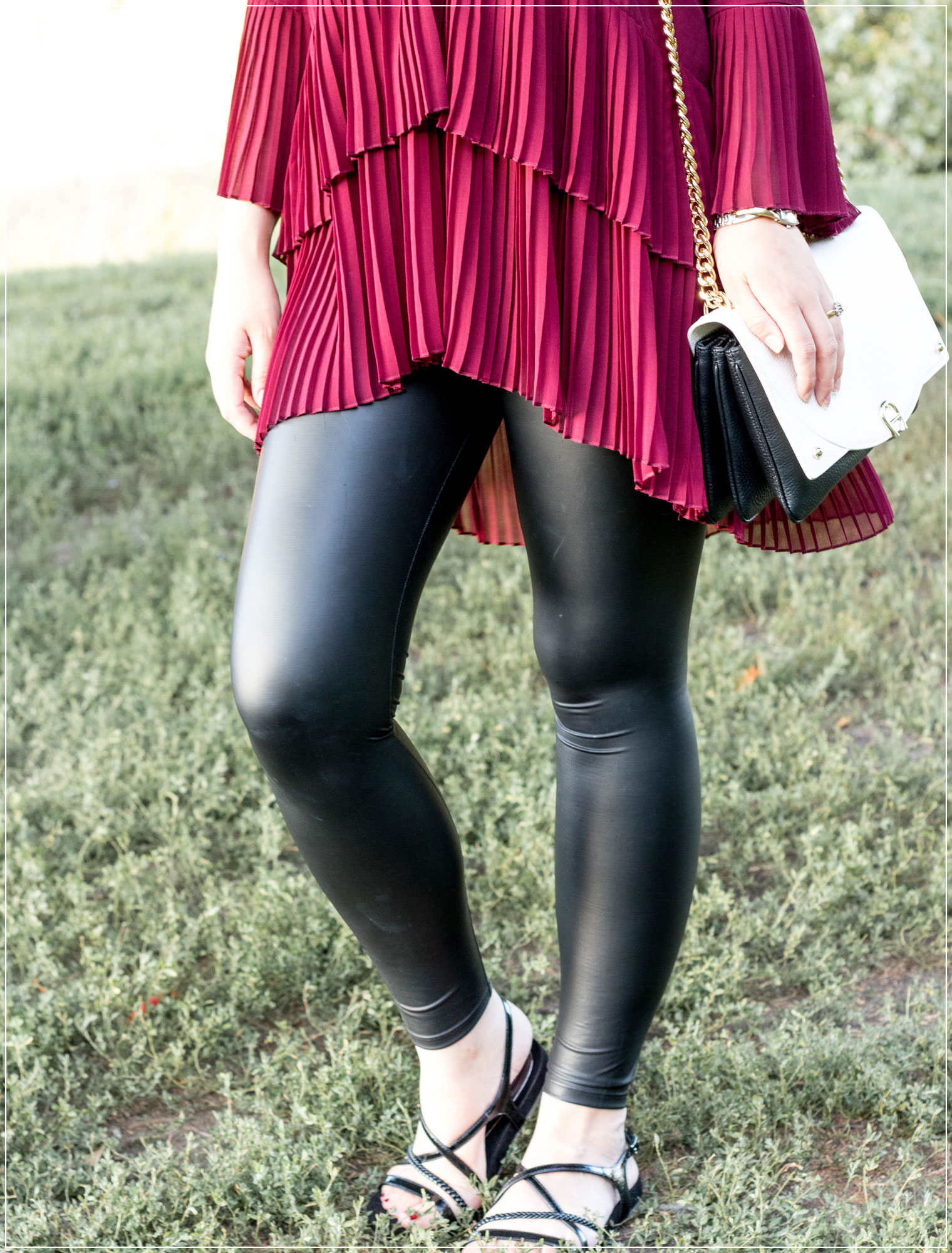 Leggings kombinieren, Leggings, Leder, Volants, Herbstoutfit, Herbstlook, Leipzig, Outfitinspiration, Autumnstyle, Abendoutfit, Modebloggerin, Fashionbloggerin, Modeblog, Ruhrgebiet