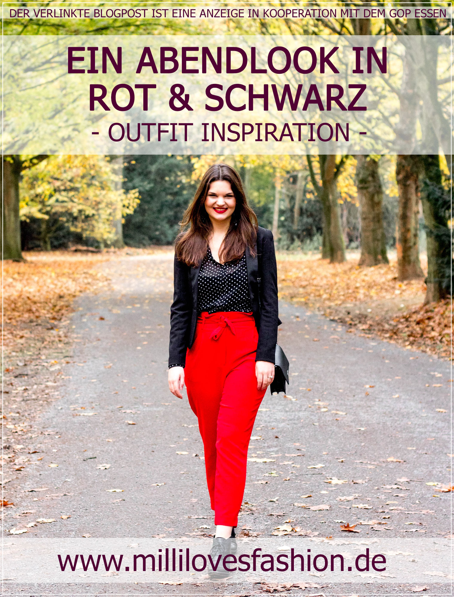 Paperbag Hose, Rot, Business Style, GOP Essen, Trendfarbe, Modetrend, eleganter Style, Herbstoutfit, Classylook, Outfitinspiration, Winterstyle, Abendoutfit, Modebloggerin, Fashionbloggerin, Modeblog, Ruhrgebiet