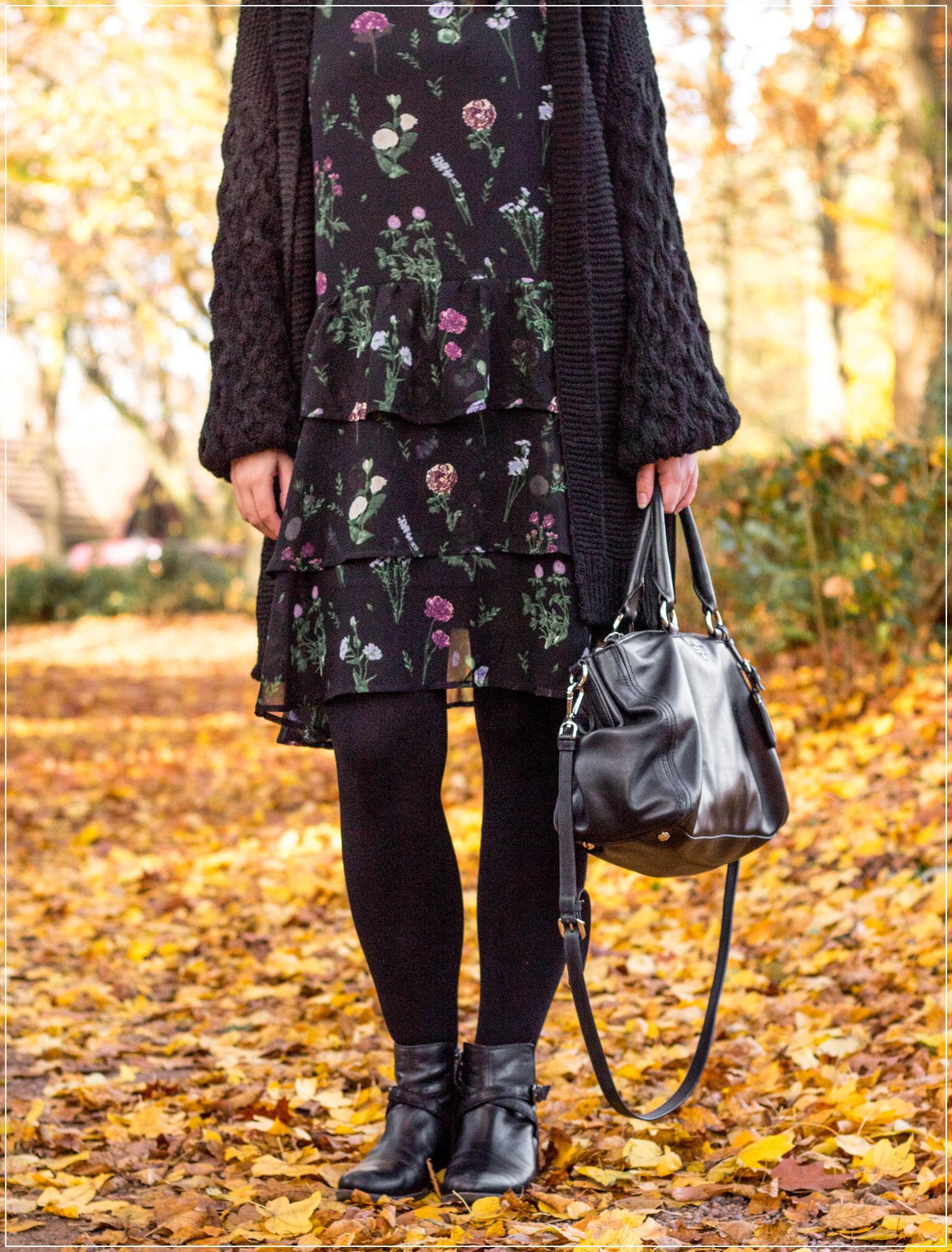 NA-KD, Dorsten, Mensing, Winteroutfit, Winterlook, kuscheliger Cardigan, Chiffon-Kleid, Outfitinspiration, Winterstyle, Alltagslook, Modebloggerin, Fashionbloggerin, Modeblog, Ruhrgebiet