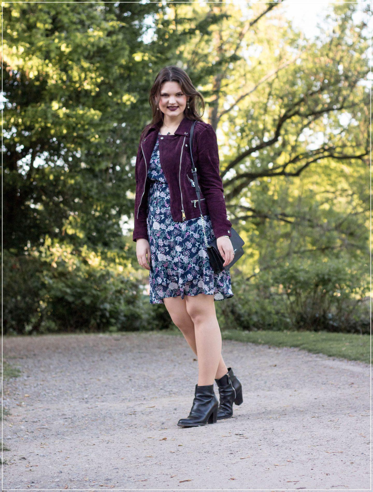 Frühlingslook, Springstyle, Blumenprint, Flowerdress, Jeans Fritz, Blumenkleid kombinieren, Styleguide, Outfitinspiration, Modebloggerin, Fashionbloggerin, Modeblog, Ruhrgebiet