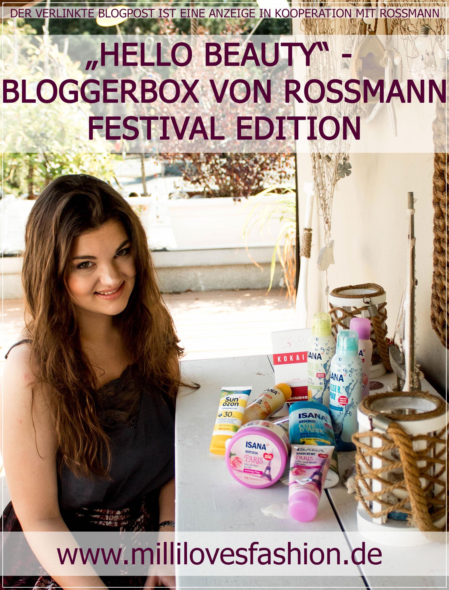 Blogger Box, Rossmann, Beauty Neuheiten, Beautyprodukte, Isana, Sommerprodukte, Festival, Beautyblogger, Ruhrgebiet, Beautybloggerin, Blogger, Drogerie Neuheiten, Drogerie Produkte