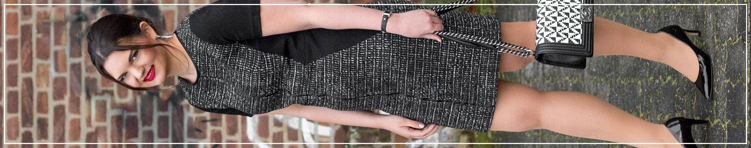 Chanel Boy Bag, Outfit mit Chanel Boy Bag, Tweedkleid kombinieren, Modeklassiker, Spring Style, Outfitinspiration, Modebloggerin, Fashionbloggerin, Modeblog, Ruhrgebiet