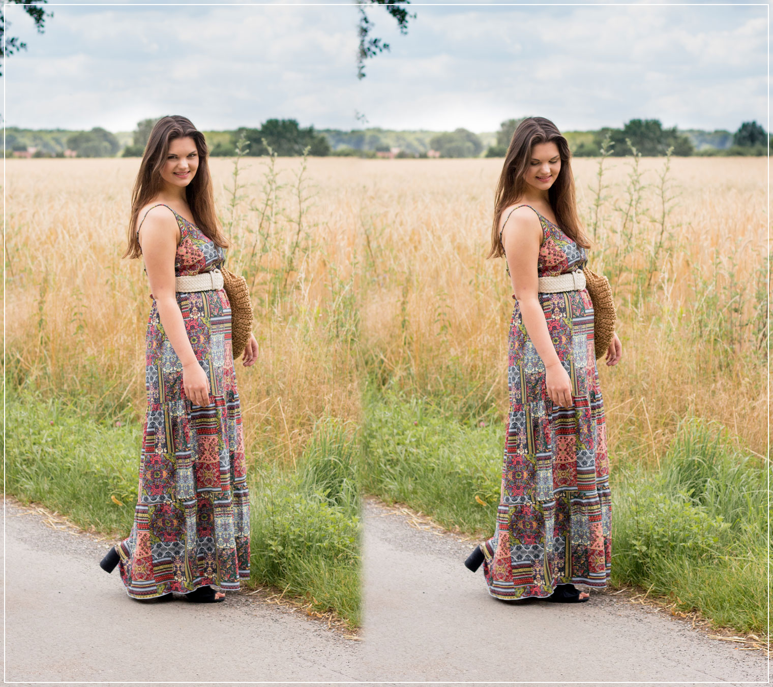 Boho-Style, Sommerlook, Maxikleid, Sommeroutfit, Boho-Look, Styleguide, Outfitinspiration, Modebloggerin, Fashionbloggerin, Modeblog, Ruhrgebiet