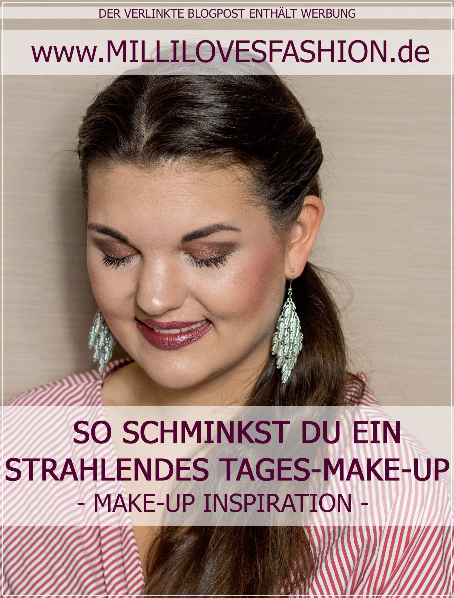 Detailansicht Tages-Make-Up in Erdtoenen