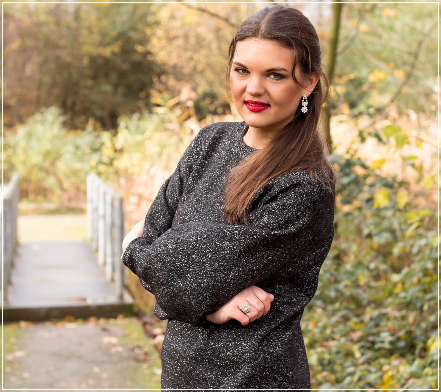 Outfitinspiration mit Lurex als Modetrends im Herbst 2020