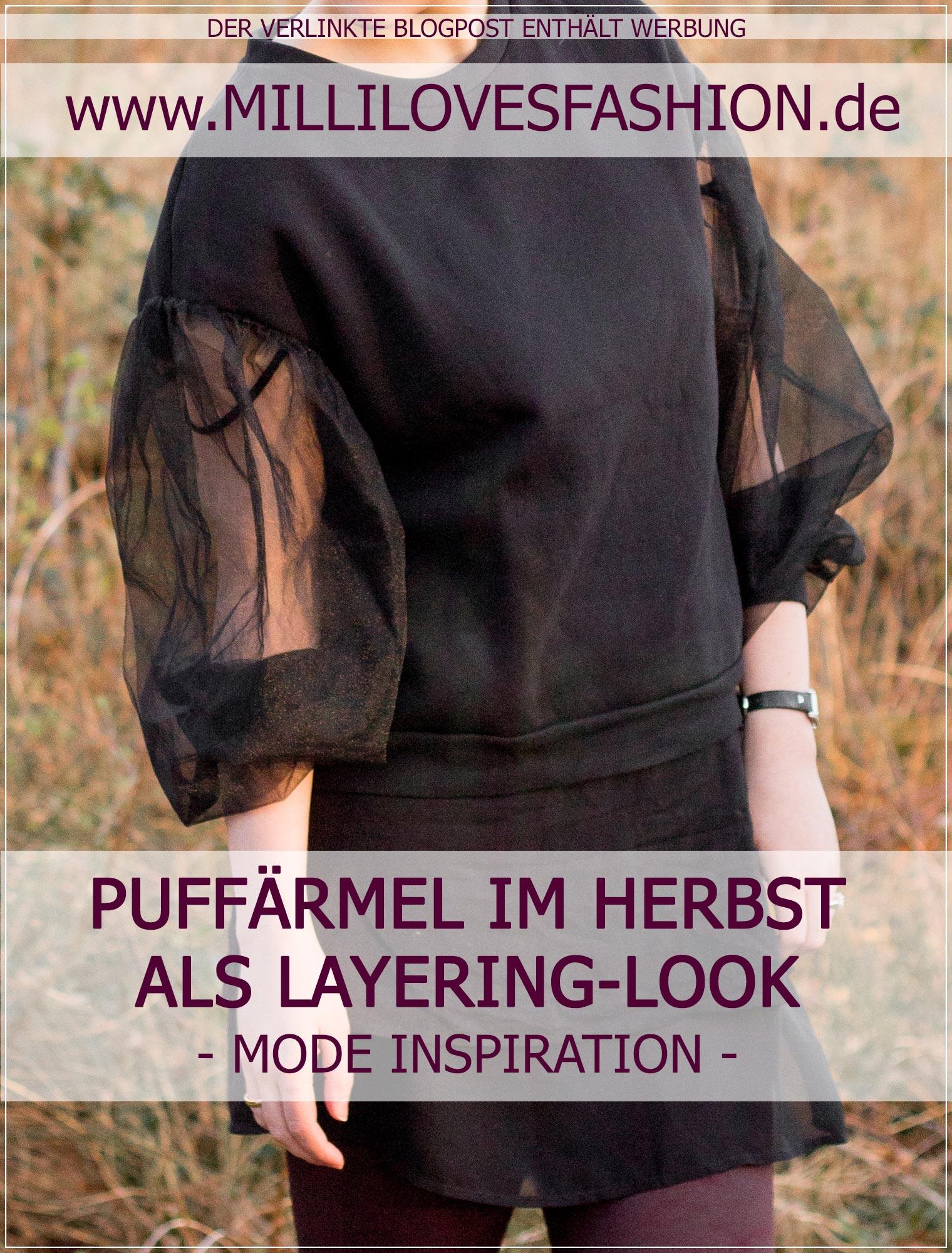 So stylst du Puffärmeln im Herbst als Layering-Look