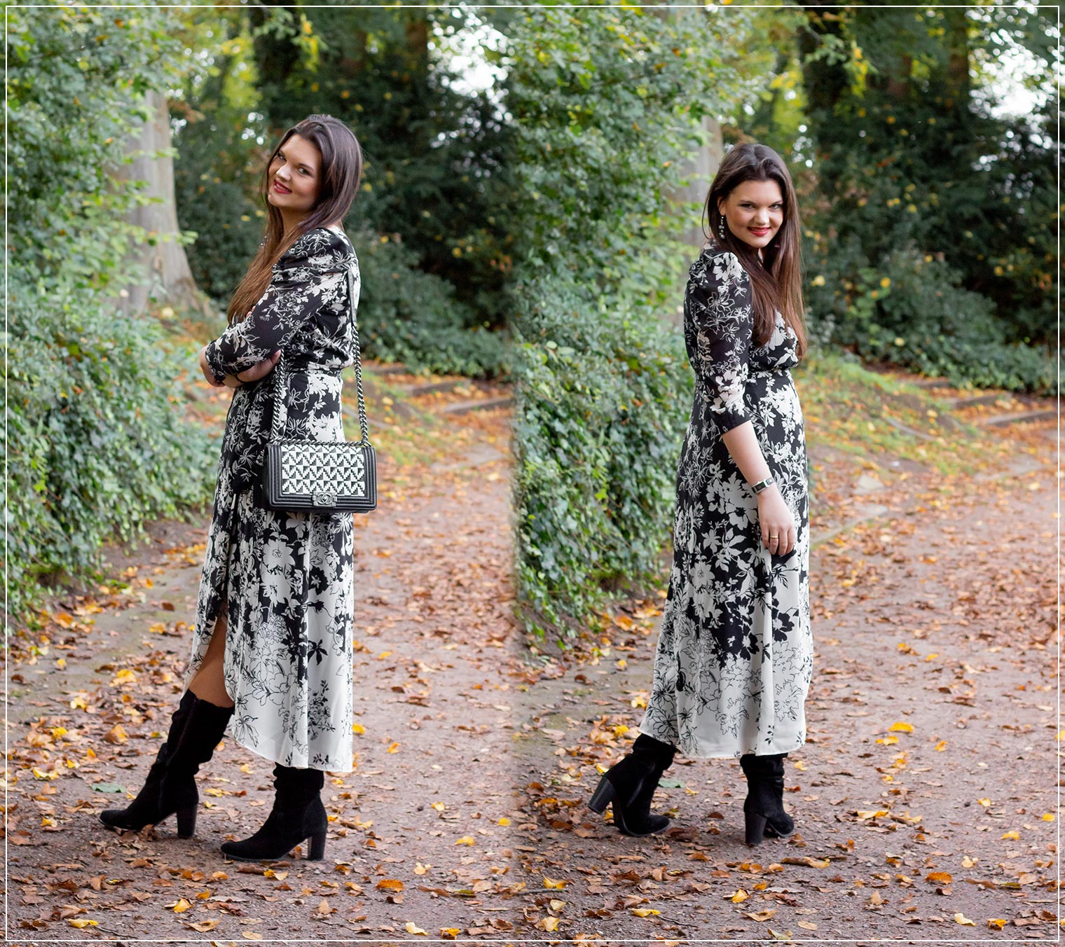 So kombinierst du Wickelkleider zu einem Herbstlook