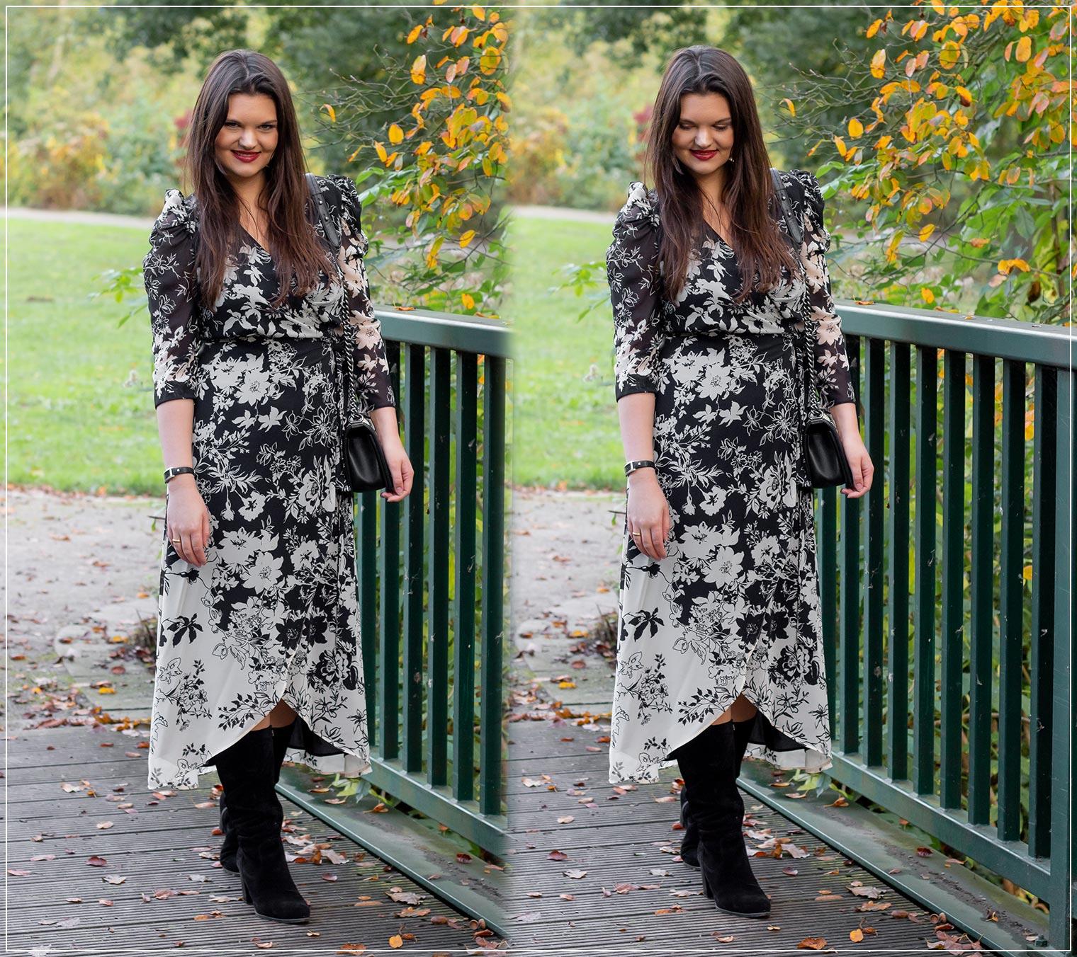 So stylst du Wickelkleider im Herbst