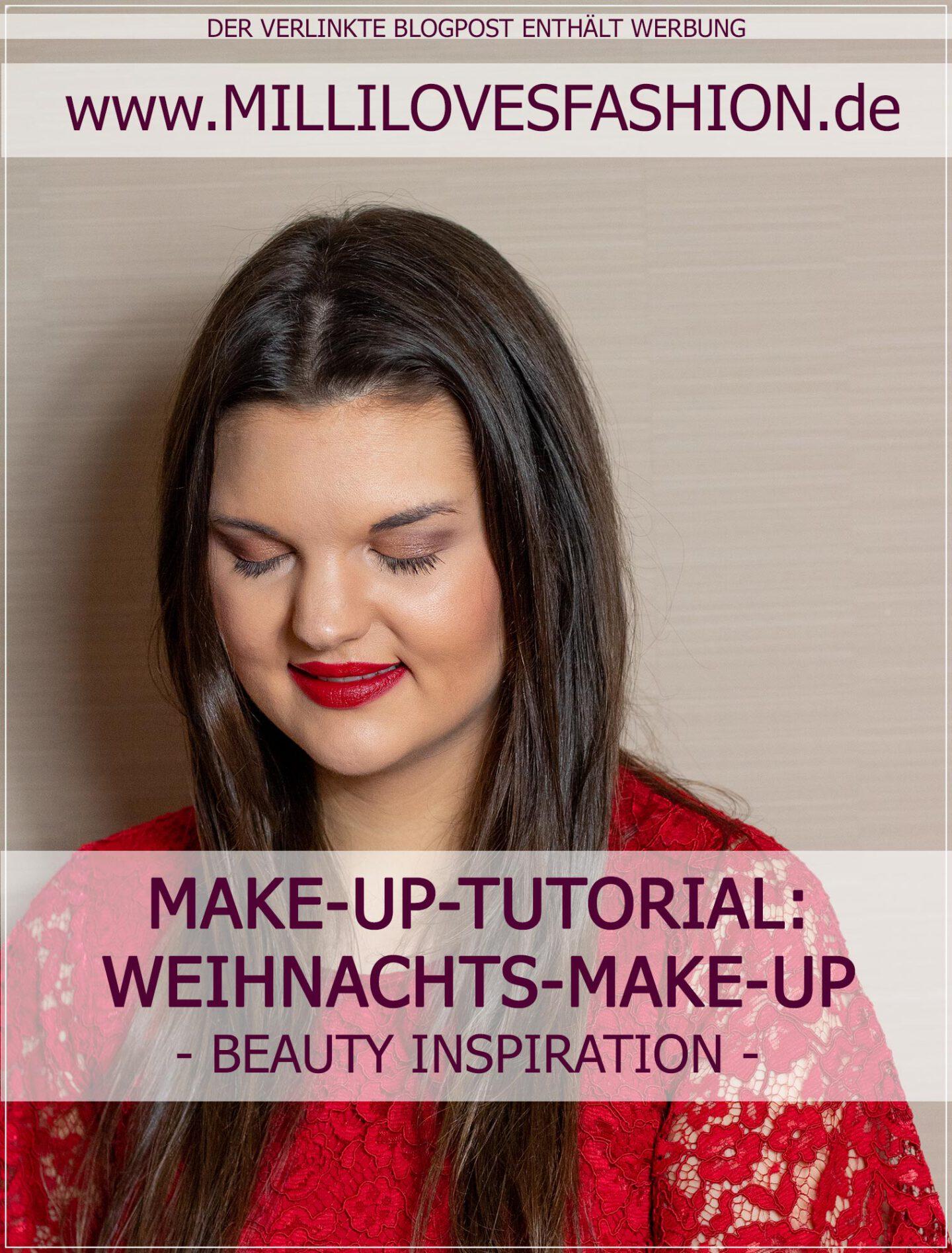 Tutorial für ein festliches Weihnachts-Make-Up