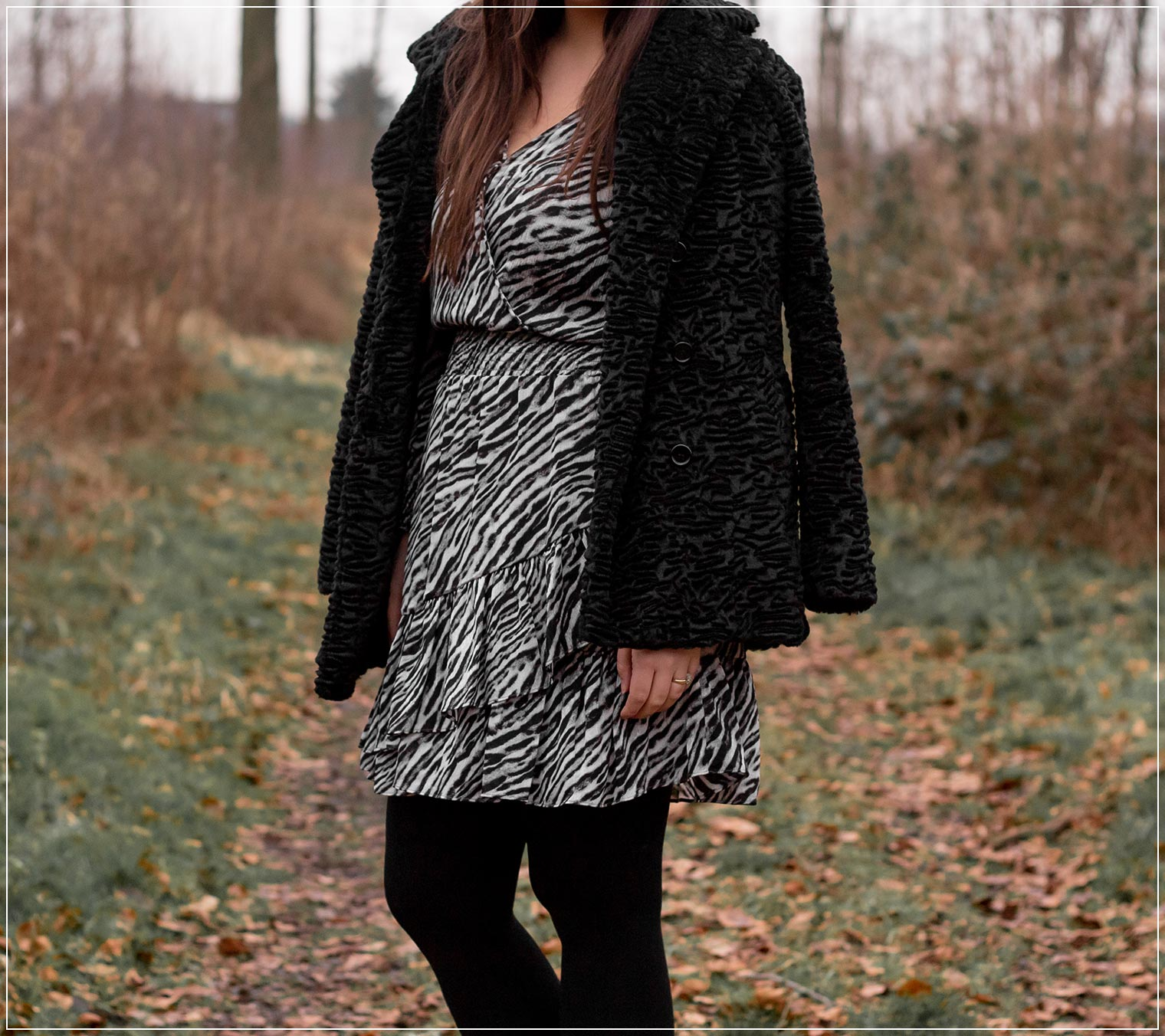 So stylst du einen Winterlook mit Animal-Print