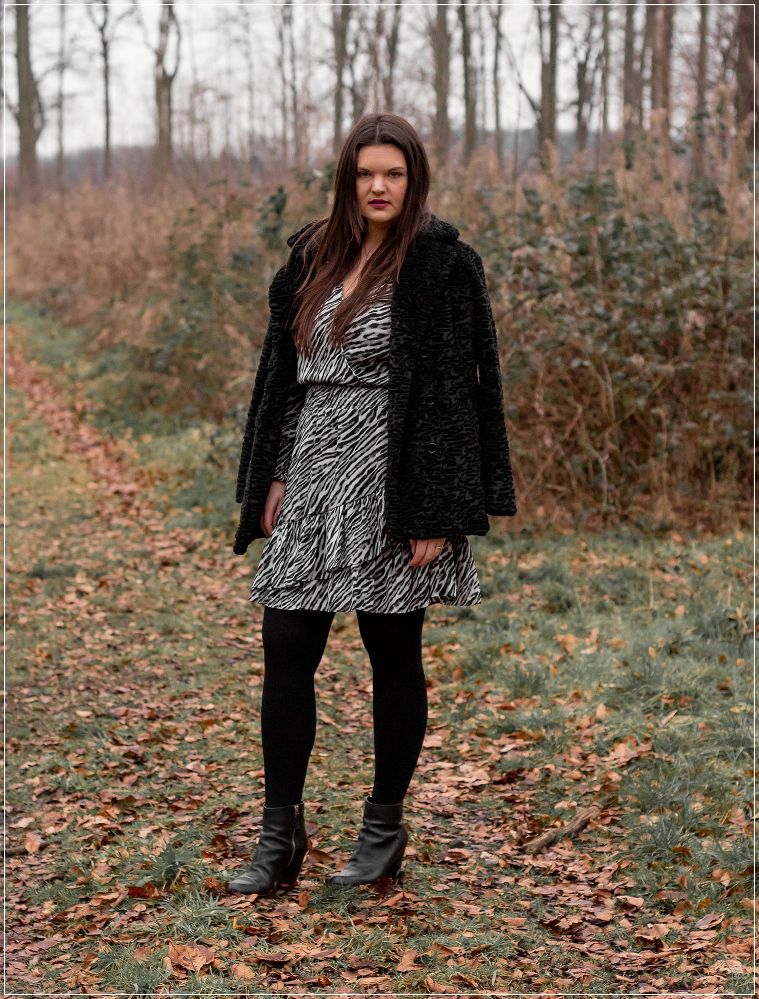 Animal-Print und Fake Fur als Winterlook stylen