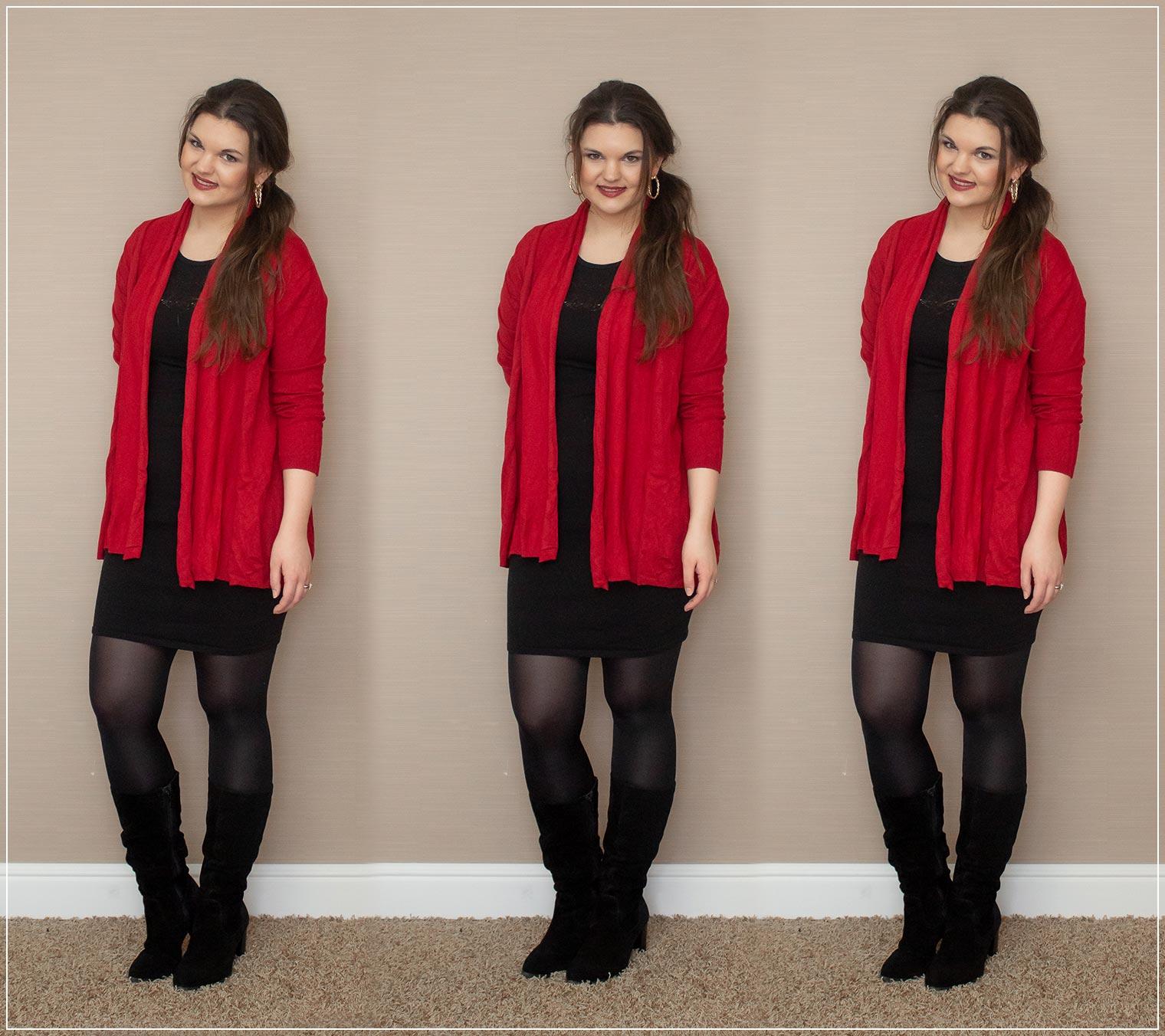 Rot und schwarz als Outfit im Alltag, Dailylooks