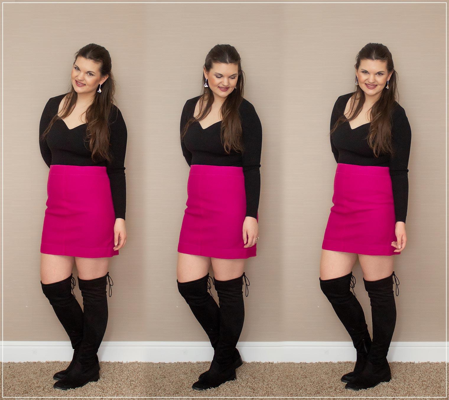 Pink als Trendfarbe 2021 mit schwarz kombiniert
