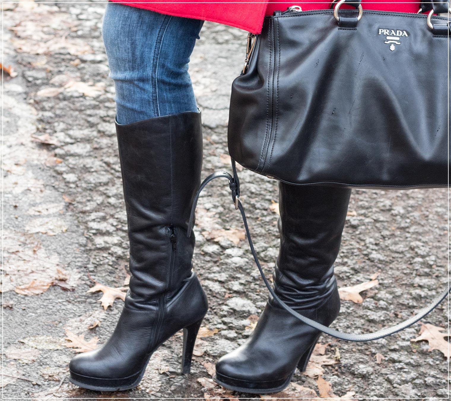 Klassische Stiefel zum Wintergewand