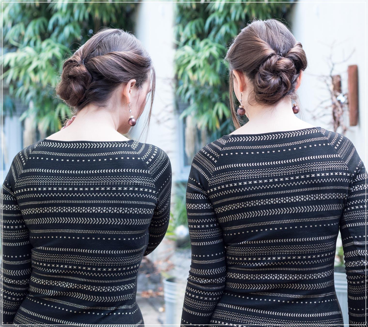 eleganter Frisur zum Weihnachtsoutfit