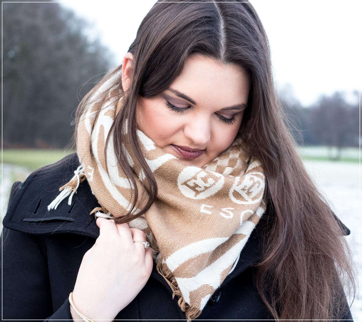 elegantes Make-Up zum klassischen Winteroutfit