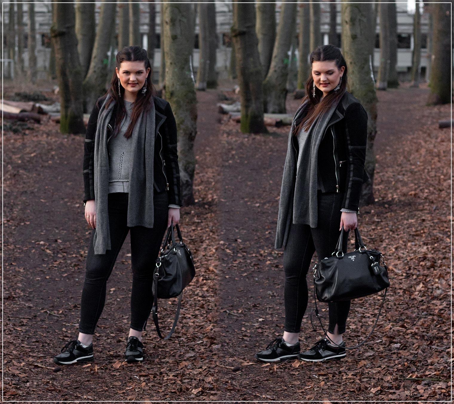 Pantonefarbe Ultimate Grey kombiniert mit schwarz