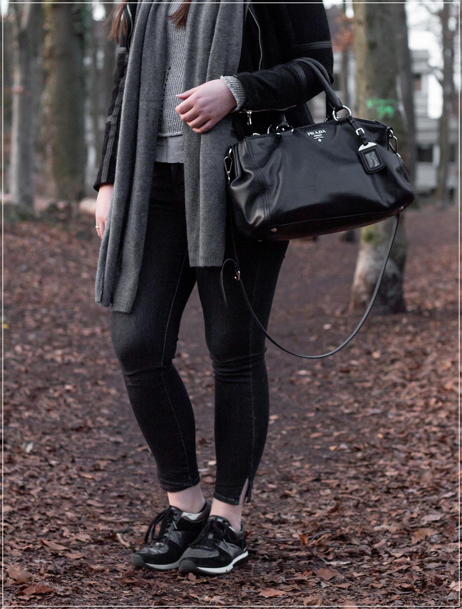 Sportlicher Look mit Ultimate Grey und schwarz