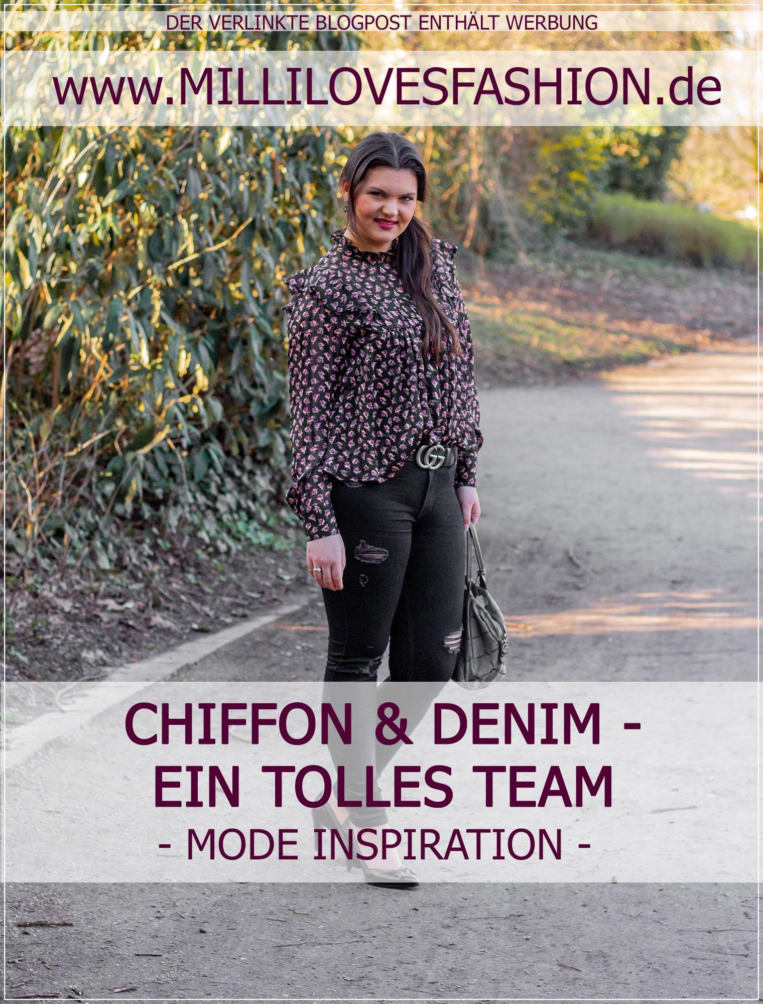 Chiffon und Ripped Jeans miteinander kombinieren