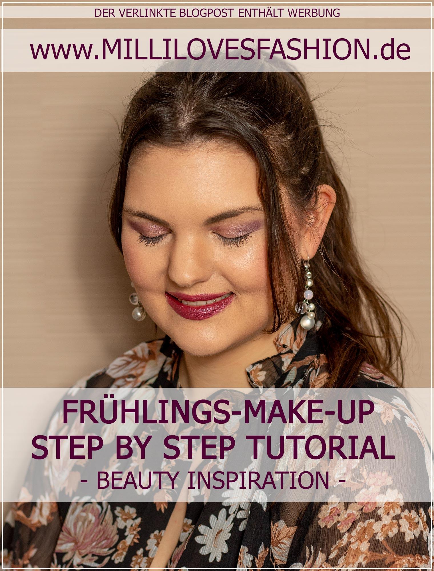 Frühlings-Make-Up als Step by Step Anleitung mit Flieder