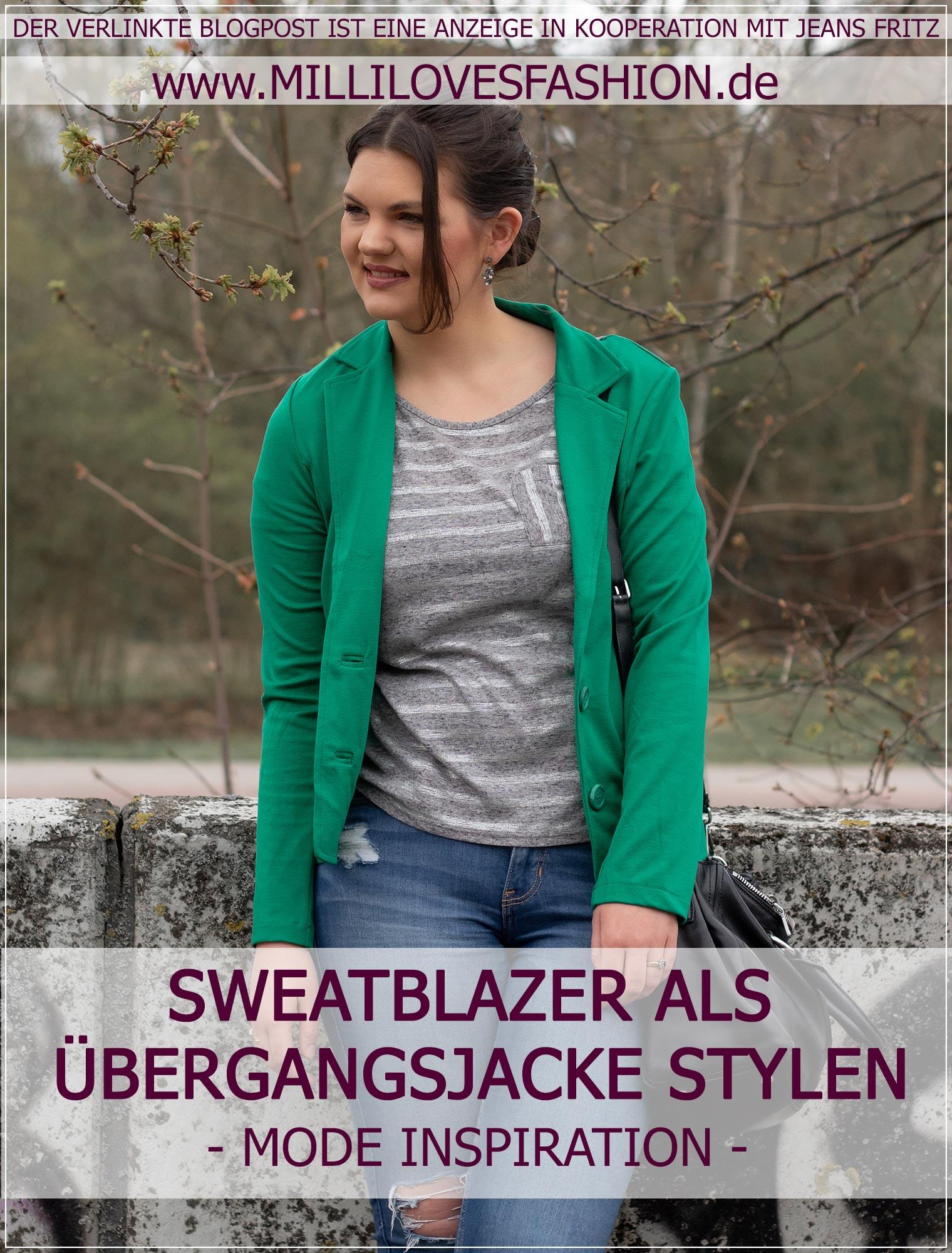 Sweatblazer als Übergangsjacke im Frühling stylen