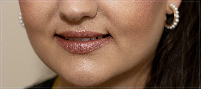 Rosé farbener Lippenstift für jeden Tag