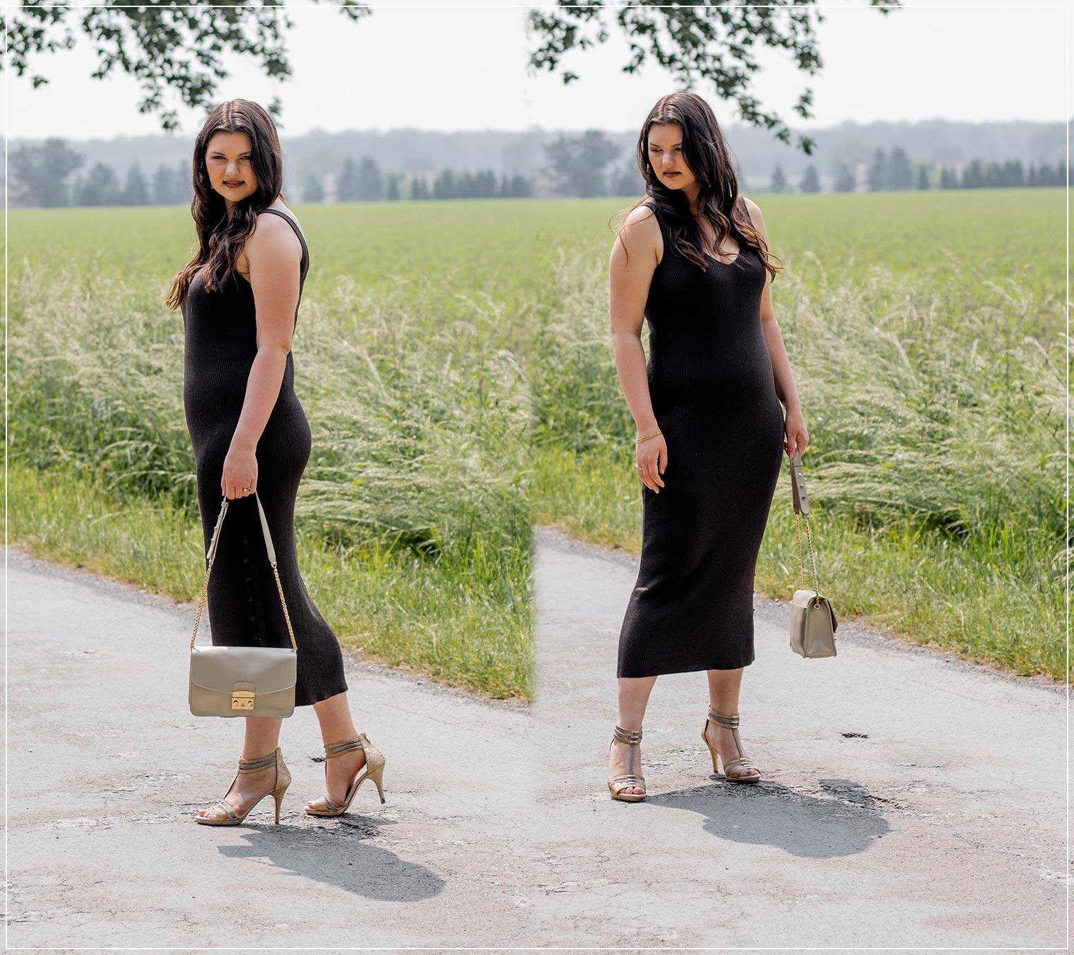 sommerliches Strickkleid im Sommer kombinieren