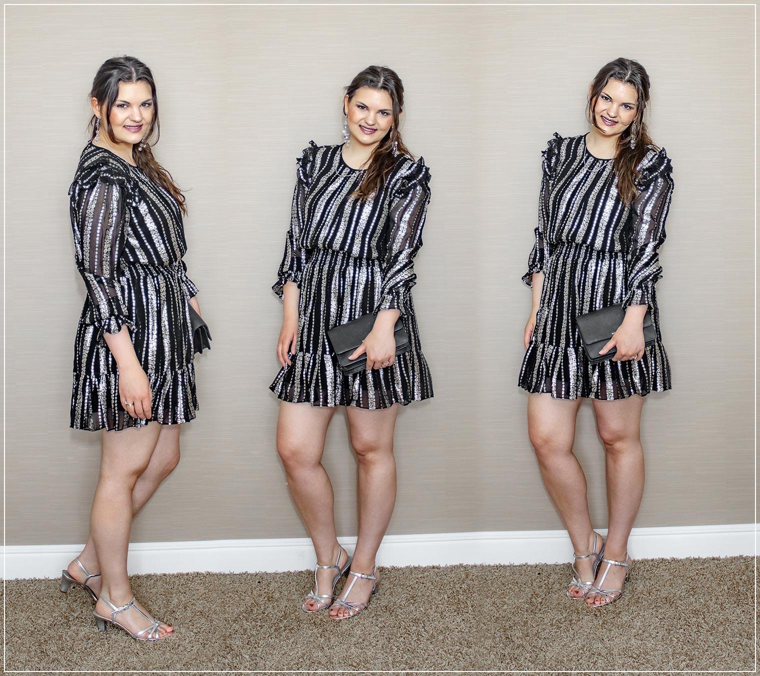 Sommeroutfit aus Kleid mit Volants