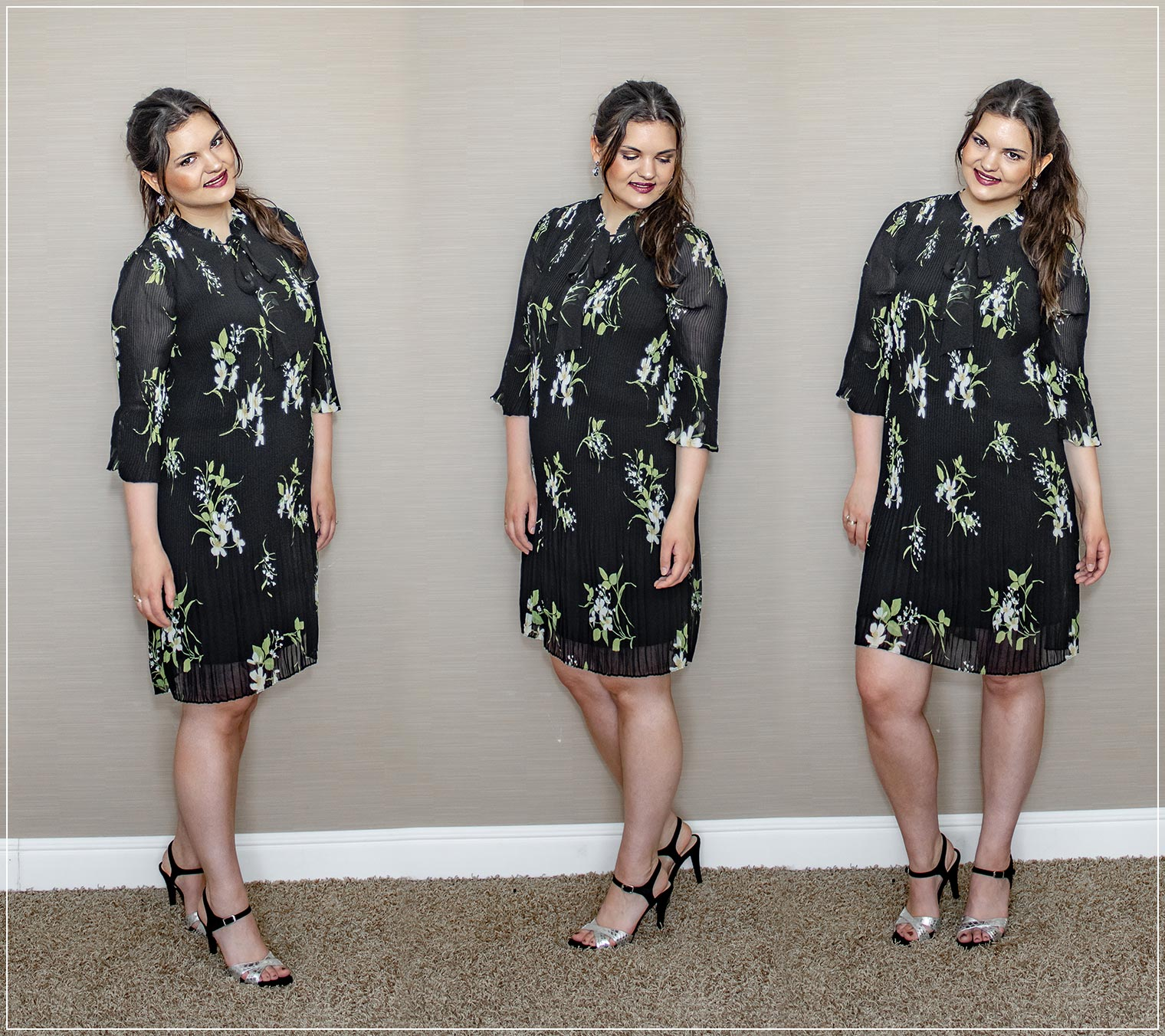 Outfit für eine Sommerparty mit Kleid und High Heels