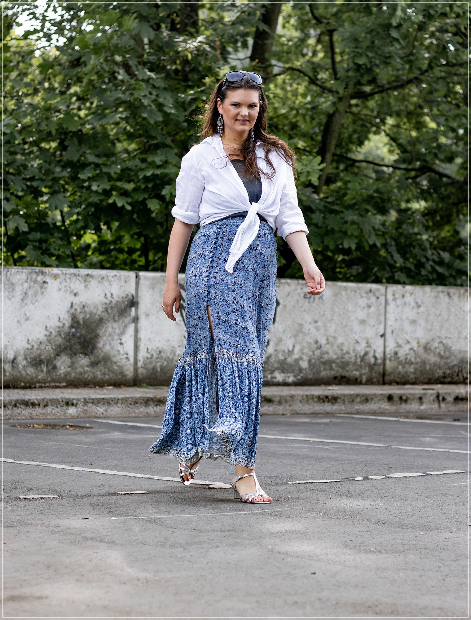 Modetrend weißer Kragen im Sommer stylen