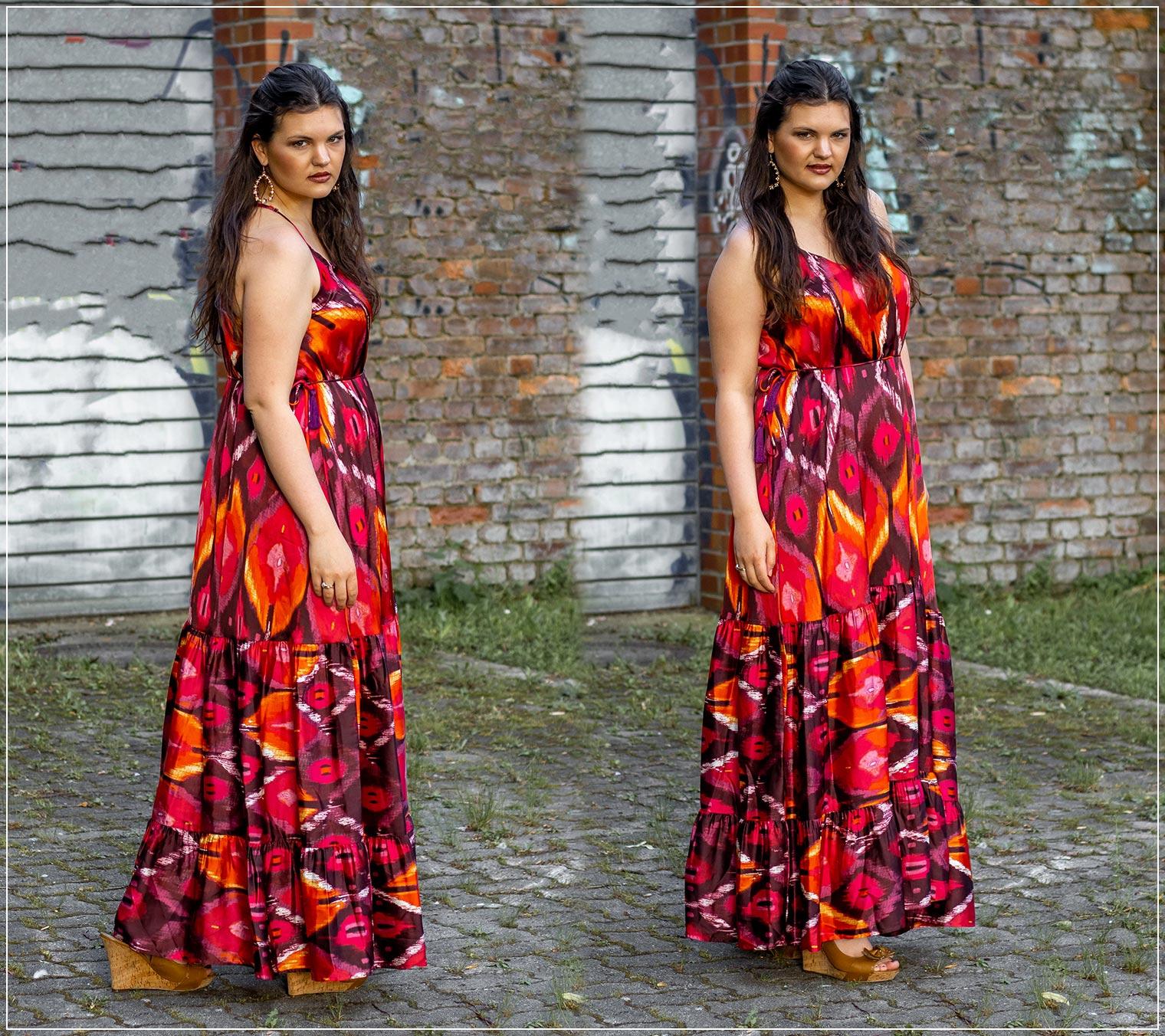 sommerliches Maxikleid als Outfit für einen Sommerabend