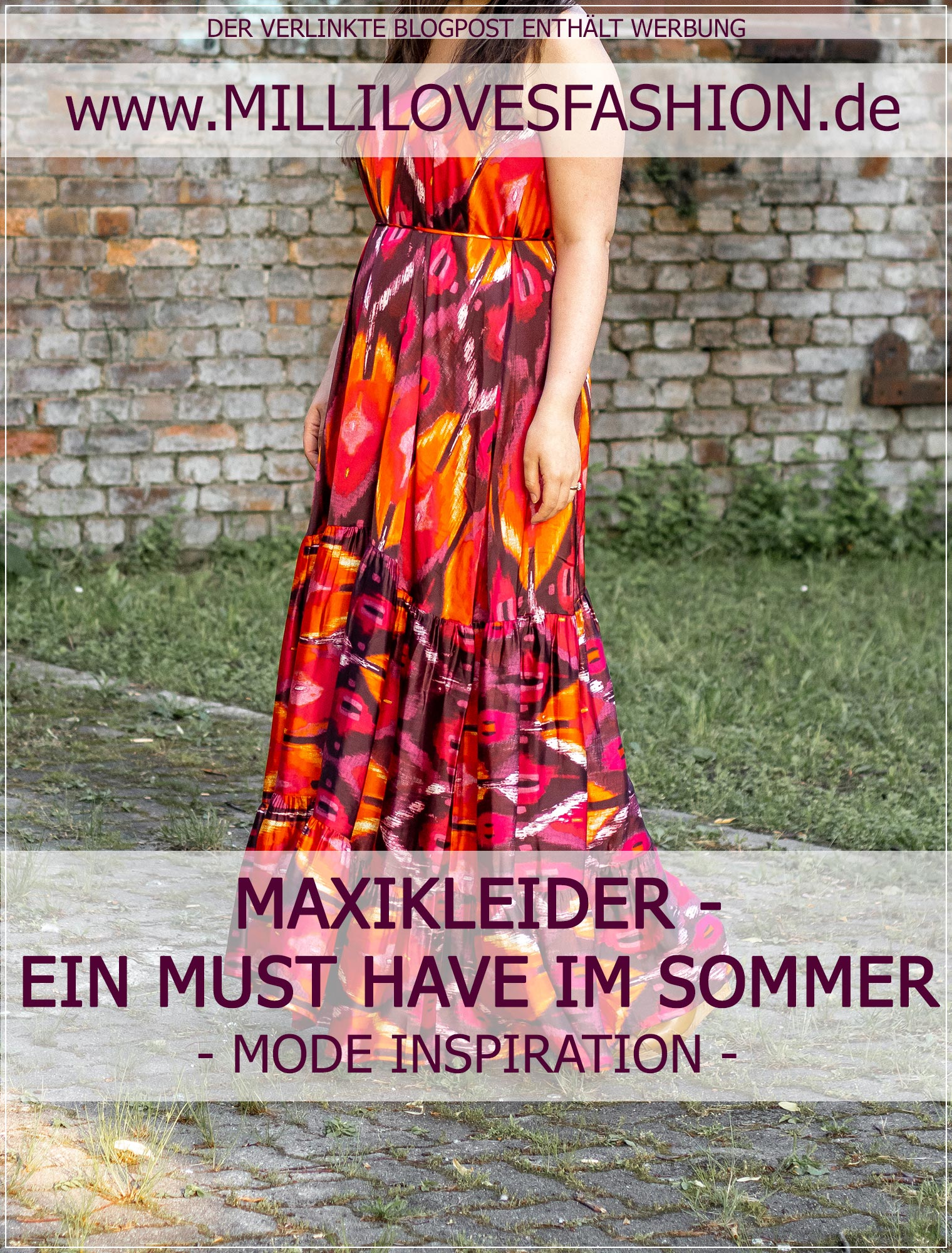 Buntes Maxikleid als Must Have im Sommer