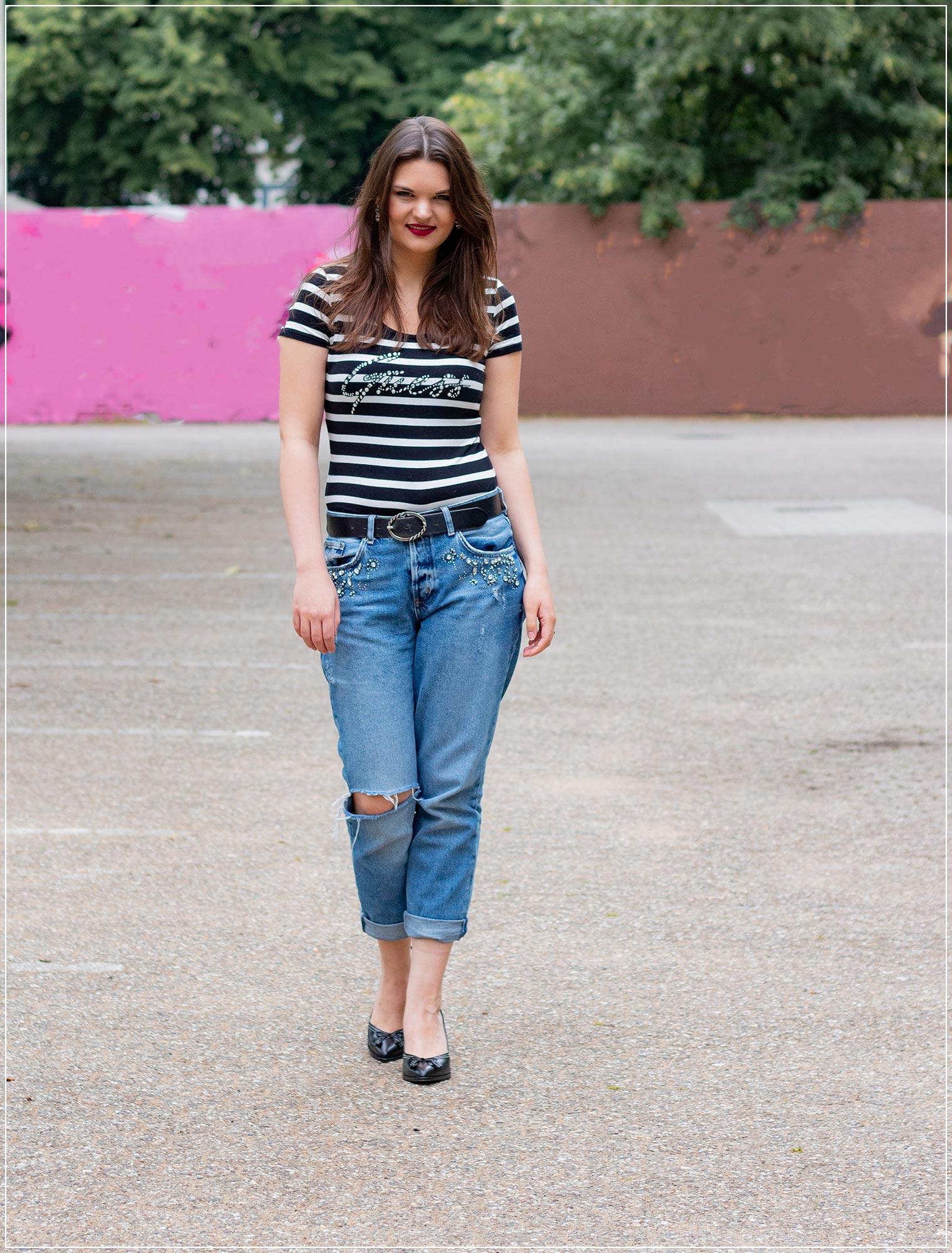 Die Boyfriend Jeans als Jeans Look